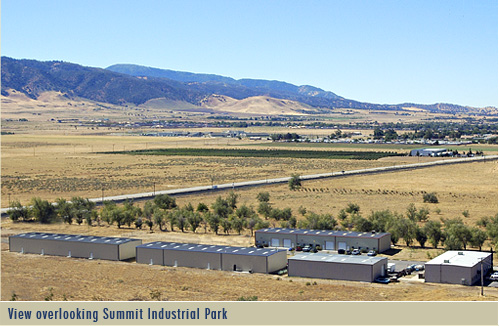 View overlooking Summit Industrial Park